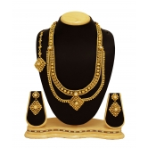 Traditional & Antique Design Golden Stylle  Beautifulbridal Jewellery Long  Neckles Set