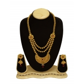 Traditional Designer  & Fancy Gold Color  Bridal  Jewellery Long Neckles Set