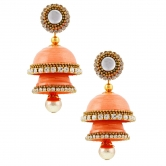 Shine Eshop Fancy Artificial Handcrafted Double Jhumka