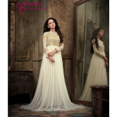 Enigmatic Beige & Off White Salwar Kameez Suit