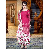 Pink Printed Poly Cotton Salwar Suit