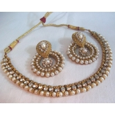 Golden Pearl Polki Set