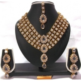 White Color Stone Dulhan Set