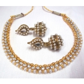 Golden Ball Pearl Necklace Set