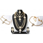 Craftsvilla White Stone Kundan Bridal Necklace Set