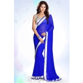 Silkcity Design Bollywood Indian Traditional Partywear Blue Saree