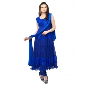 Designer Royal Blue Hot Long Anarkali Suit By Silkcity