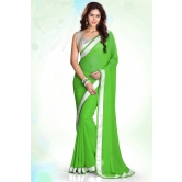 Green Designer Border Indian Traditional Partywear Saree By Silkcity