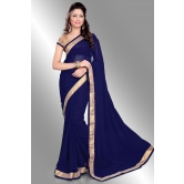 Silkcity Design Bollywood Indian Traditional Partywear Dark Blue Sarees