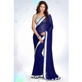 Silkcity Design Bollywood Indian Traditional Partywear Dark Blue Saree