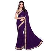 Silkcity Design Bollywood Indian Traditional Partywear Purple Saree