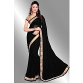 Silkcity Design Bollywood Indian Traditional Partywear Black Saree