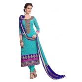 Styles Closet Sky Blue Chanderi Dress Material