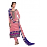 Styles Closet Light Pink Designer Chanderi Dress Material