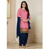 New Patiyala Pink Cotton Salwar Suit