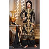 Li Te Ra New Designer Black Embroidery Work Salwar Suit