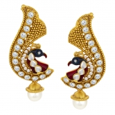 Sukkhi Incredible Peacock Gold Plated Ad Earring For Women