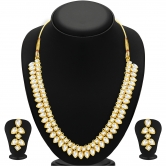 Sukkhi Youthful Gold Plated Kundan Necklace Set For Women