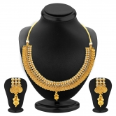 Craftsvilla Splendid Jalebi Design Gold Plated Necklace Set For Women