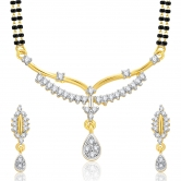Sukkhi Delight Gold And Rhodium Plated Cz Mangalasutra Set For Women