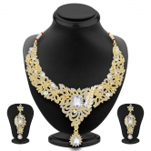 Sukkhi Beguiling Gold Plated Ad Necklace Set For Women
