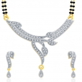 Sukkhi Spellbinding Gold And Rhodium Plated Cz Mangalasutra Set For Women