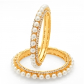Craftsvilla Finely Gold Plated Pearl Bangle For Women