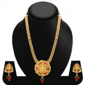 Craftsvilla Enchanting Gold Plated Ad Temple Necklace Set
