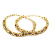 Sukkhi Modish Gold Plated Ad Anklet For Women