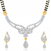 Sukkhi Glorious Gold And Rhodium Plated Cz Mangalsutra Set For Women