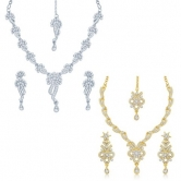 Craftsvilla Intricately 2 Pieces Necklace Set Combo