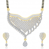 Sukkhi Fascinating Gold And Rhodium Plated Cz Mangalasutra Set For Women