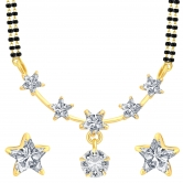 Sukkhi Classy Star Gold Plated Cz Mangalsutra Set For Women