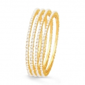 Sukkhi Moddish Gold Plated Set Of 4 Single Line Moti Bangle (32006badv1250)