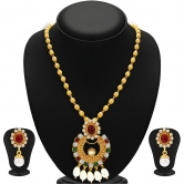 Craftsvilla Modish Gold Plated Necklace Set For Women