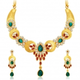 Craftsvilla Royal Gold Plated Ad Necklace Set For Women