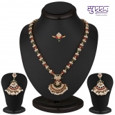 Craftsvilla Attractive Gold Plated Ad Necklace-earring-ring Set