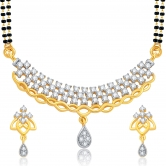 Sukkhi Blossomy Gold And Rhodium Plated Cz Mangalsutra Set For Women