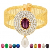 Sukkhi Exquisite Gold Plated Ad Ten Changeable Stone Kada(12061kadi900)