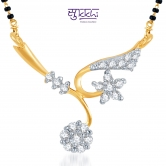 Sukkhi Elegant Wedding Cz Gold And Rhodium Plated Mangalsutra Pendant (free Mala (18\