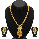 Craftsvilla Stylish Gold Plated Kundan Necklace Set For Women