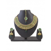 Sukkhi Artistically Gold Plated Ad Necklace Set For Women