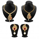 Craftsvilla Luxurious Necklace Set Detachable To Pendant Set With Chain And Set Of 5 Changeable Stone