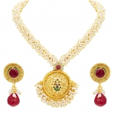 Sukkhi Artistically Peacock Gold Plated Pendant Set For Women