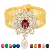 Sukkhi Magnificent Gold Plated Ad Ten Changeable Stone Kada(12060kadi900)