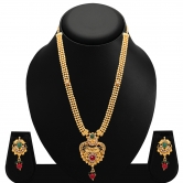 Sukkhi Cluster Gold Plated Ad Necklace Set For Women