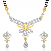 Sukkhi Finely Gold And Rhodium Plated Cz Mangalsutra Set For Women