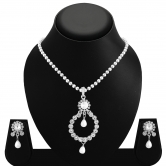 Sukkhi Graceful Rhodium Plated Ad Pendant Set For Women