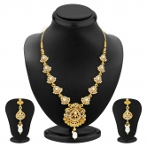 Craftsvilla Gleaming Gold Plated Ad Necklace Set