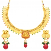 Sukkhi Exotic Laxmi Temple Coin Gold Plated Necklace Set For Women